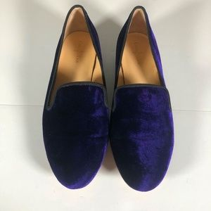 Cole Haan Loafers Purple Velvet Sabrina Size 7.5 C